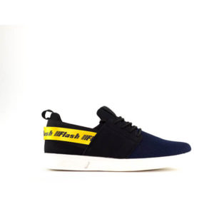 BLACK AND BLUE LACE UP SNEAKERS FOR MEN