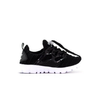 AD Black Mesh Running Shoes For Kids
