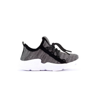 AD Grey Lace Up Running Shoes For Kids