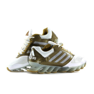 Adi Blade Spring White And Gold Running Shoes For Men
