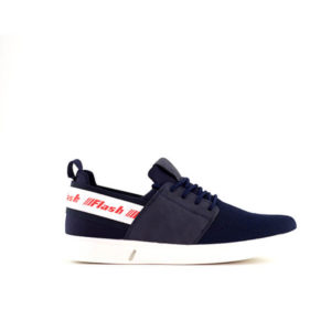 Black and Blue Lace Up Sneakers For Men 1