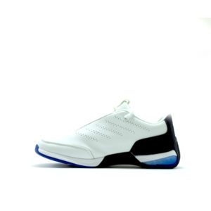 PM Cushion White and Blue Running Shoes For Men