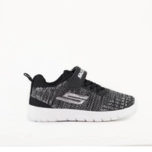 SKC Grey Stick-On Sneakers For Kids