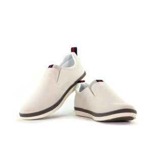 White Slip-On Casual Sneakers For Men
